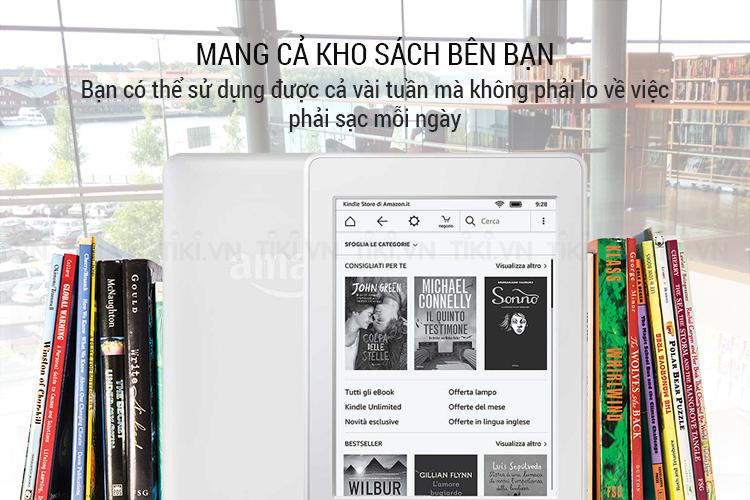 Máy đọc sách Kindle paperwhite 2018 có thể chứa hàng ngàn cuốn sách