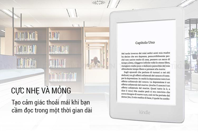 Máy đọc sách Kindle paperwhite 2018 cực nhẹ và siêu mỏng