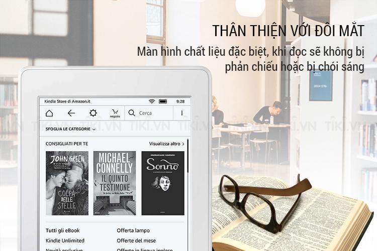 Máy đọc sách Kindle paperwhite 2018 thân thiện với đôi mắt