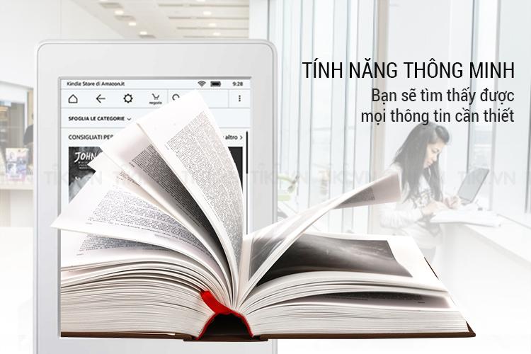 Máy đọc sách Kindle paperwhite 2018 là một cuốn sách thông minh