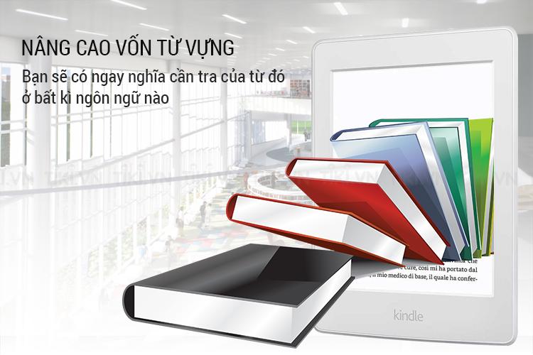 Máy đọc sách Kindle paperwhite 2018 là cuốn từ điển di động